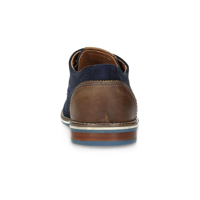 Kožené poltopánky s pruhovanou podošvou bata, modrá, 823-9600 - 15