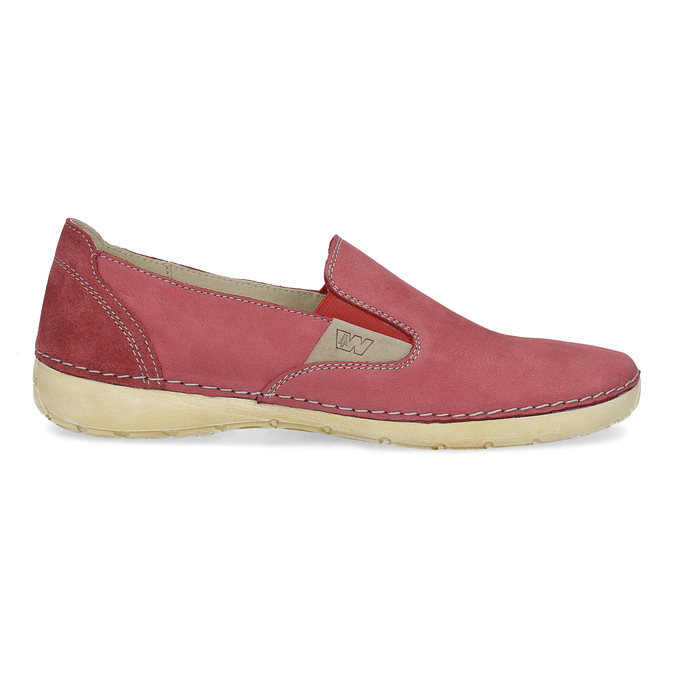 Červené dámske Slip-on weinbrenner, červená, 536-5606 - 19