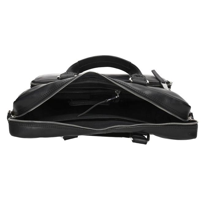 Kožená taška na dokumenty bata, čierna, 964-6287 - 15