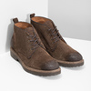 Kožená obuv v štýle Chukka Boots bata, hnedá, 823-4627 - 26
