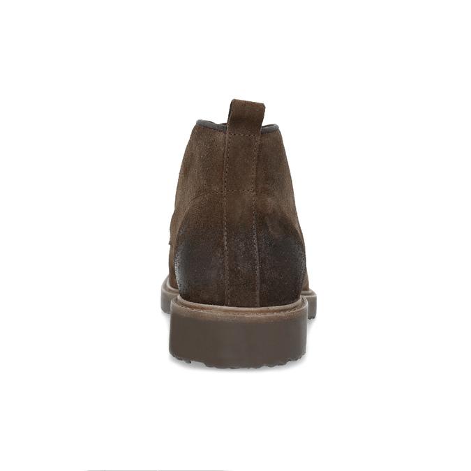 Kožená obuv v štýle Chukka Boots bata, hnedá, 823-4627 - 15