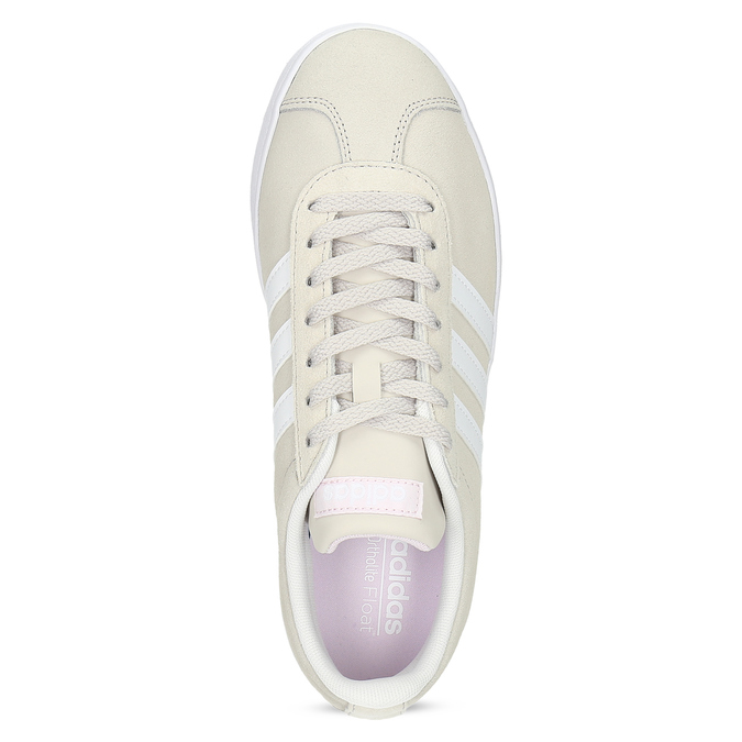 Béžové dámske kožené tenisky adidas, béžová, 503-8379 - 17