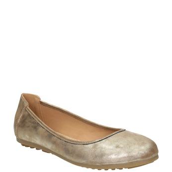 Zlaté dámske baleríny bata, 529-8640 - 13