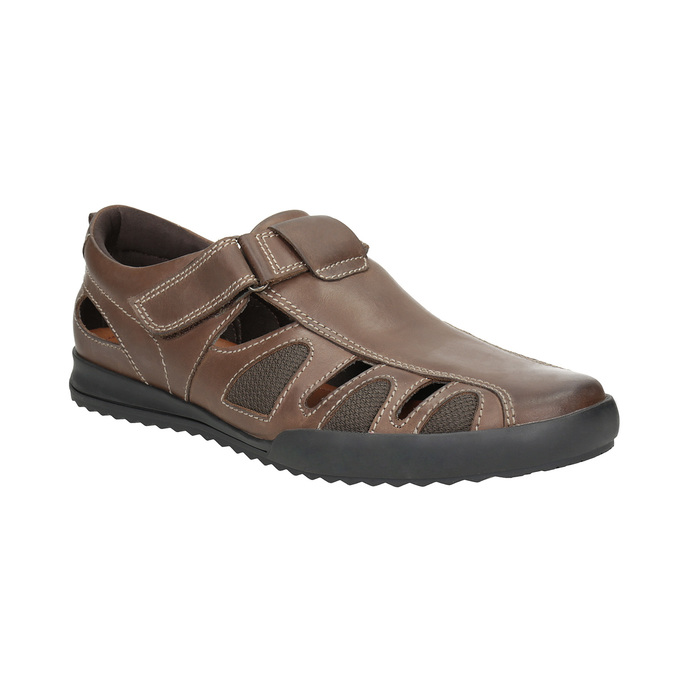 Kožené pánske sandále comfit, hnedá, 856-4605 - 13