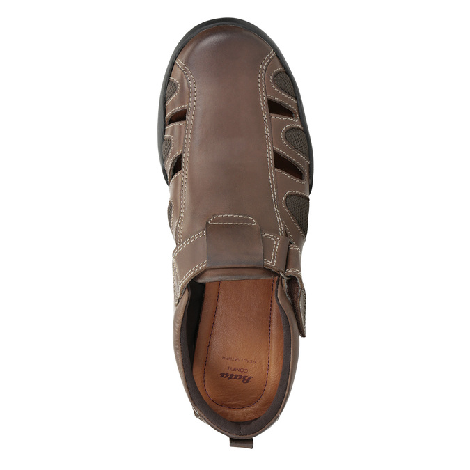Kožené pánske sandále comfit, hnedá, 856-4605 - 17