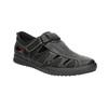 Pánske kožené sandále s prešitím comfit, čierna, 856-6605 - 13