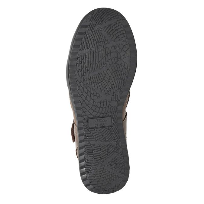 Kožené pánske sandále comfit, hnedá, 856-4605 - 19