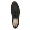 Čierne poltopánky s výraznou perforáciou bata, čierna, 529-6636 - 17
