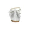 Strieborné dievčenské baleríny s mašľou mini-b, strieborná, 329-1227 - 15