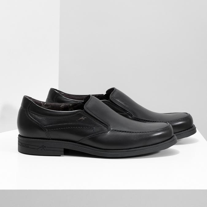 Kožené pánske Loafers fluchos, čierna, 814-6600 - 16