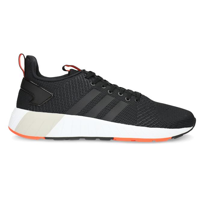 Pánske čierne tenisky s oranžovými detailami adidas, čierna, 809-6579 - 19