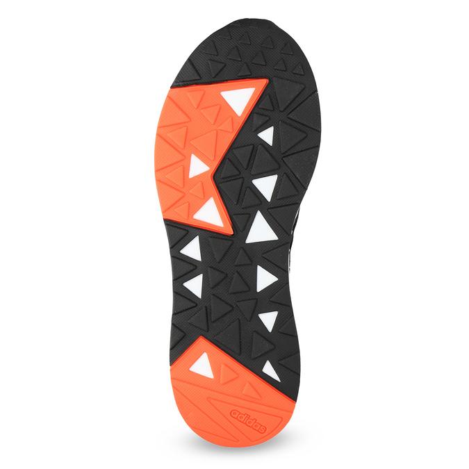 Pánske čierne tenisky s oranžovými detailami adidas, čierna, 809-6579 - 18