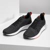Pánske čierne tenisky s oranžovými detailami adidas, čierna, 809-6579 - 16
