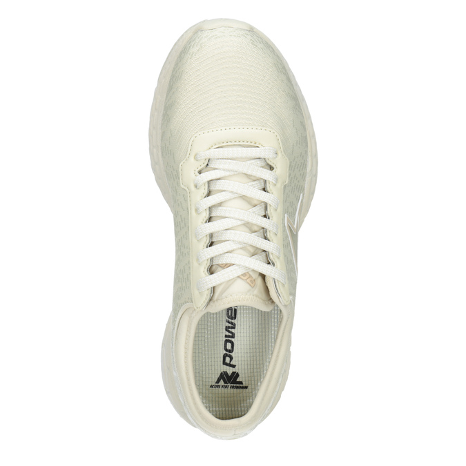 Béžové tenisky v športovom dizajne power, béžová, 509-3852 - 15