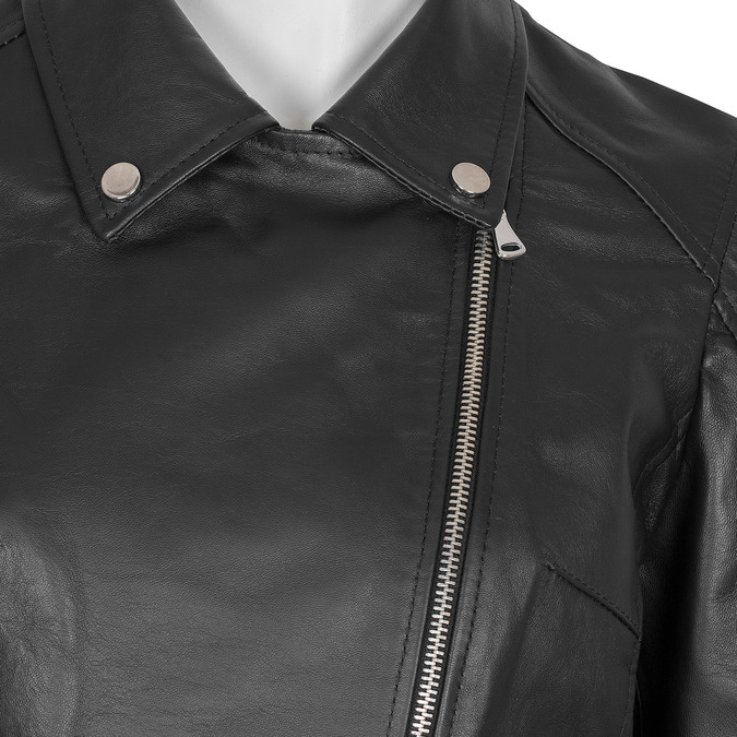 Kožená dámska bunda bata, čierna, 974-6123 - 16