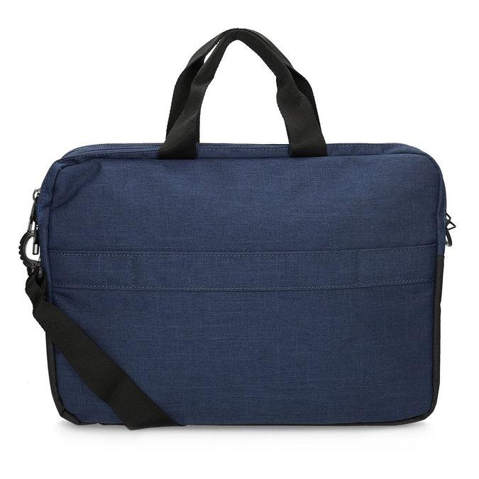 Čierno-modrá taška na notebook roncato, modrá, 969-9698 - 16
