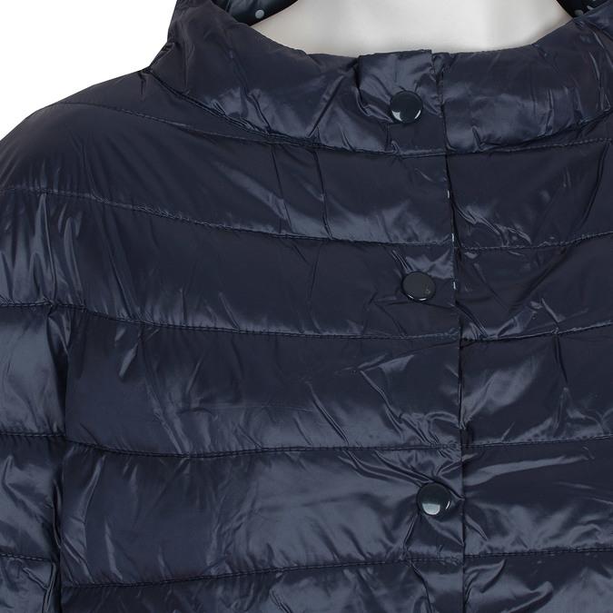 Prešívaný kabát s trojštvrťovým rukávom bata, modrá, 979-9147 - 16