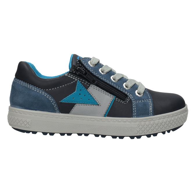 Chlapčenské kožené tenisky modré mini-b, modrá, 416-9603 - 26