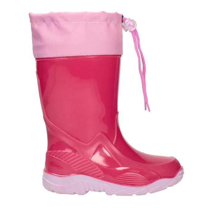 Ružové dievčenské gumáky mini-b, ružová, 192-5111 - 26