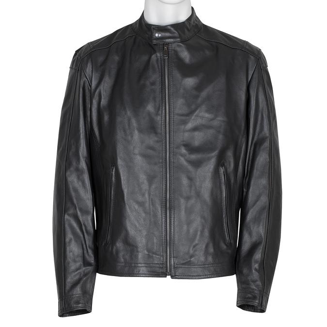 Pánska čierna kožená bunda bata, čierna, 974-6134 - 13