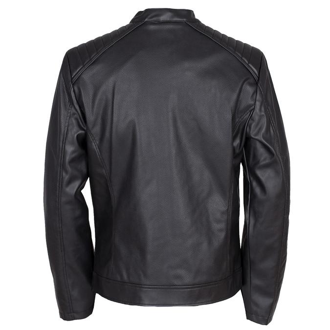 Pánska bunda s prešitím na ramenách bata, čierna, 971-6118 - 26