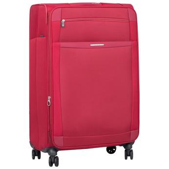 Červený cestovný kufor na koliečkach samsonite, červená, 969-5343 - 13