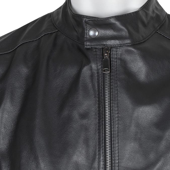Pánska čierna kožená bunda bata, čierna, 974-6134 - 16