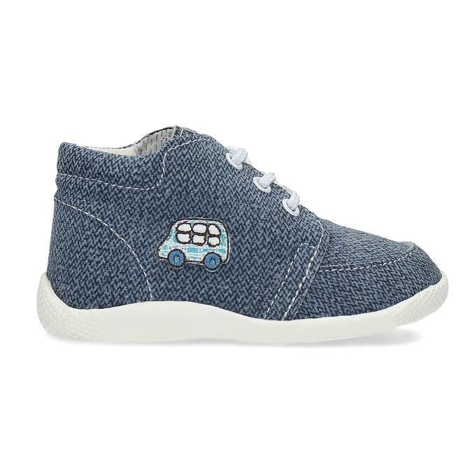 Detské členkové tenisky bata, modrá, 113-9609 - 19