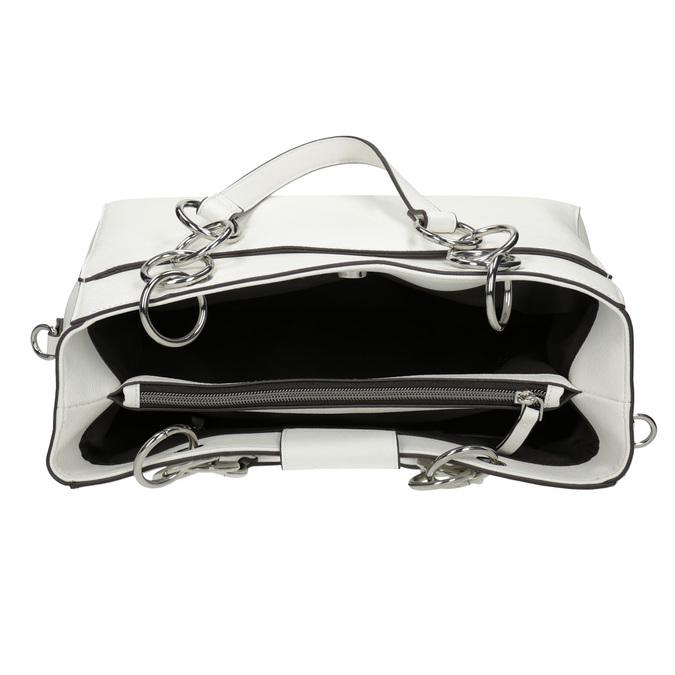 Biela kabelka s retiazkou bata, biela, 961-1343 - 15