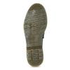 Kožené pánske mokasíny na výraznej podrážke bata, čierna, 814-6176 - 18