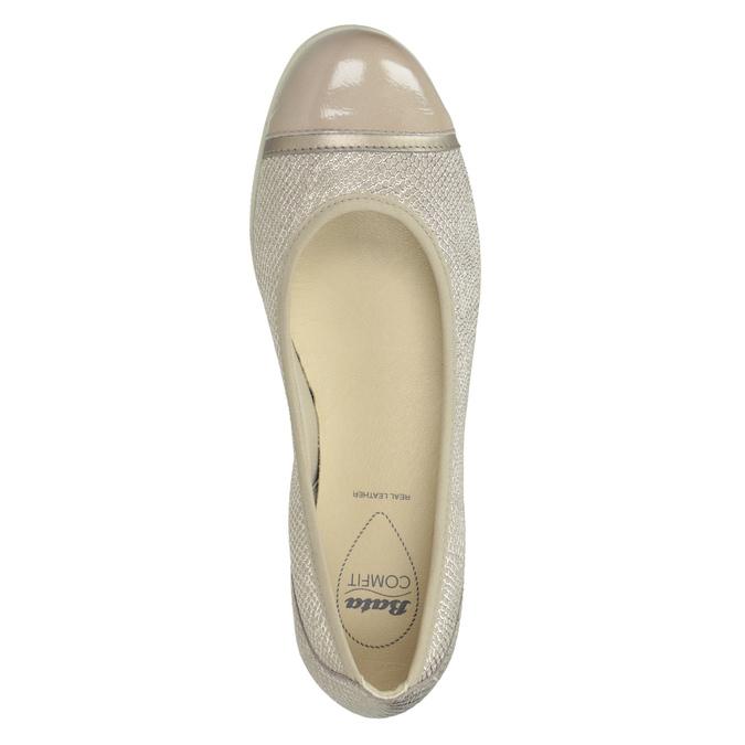 Kožené baleríny s lakovanou špičkou comfit, 526-8661 - 15