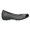 Kožené dámske baleríny comfit, čierna, 526-6661 - 26