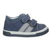 Kožená detská obuv na suchý zips bubblegummers, 116-9607 - 26