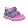 Detské kožené topánky na suchý zips bubblegummers, fialová, 126-9601 - 13