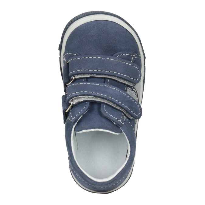 Kožená detská obuv na suchý zips bubblegummers, 116-9607 - 15