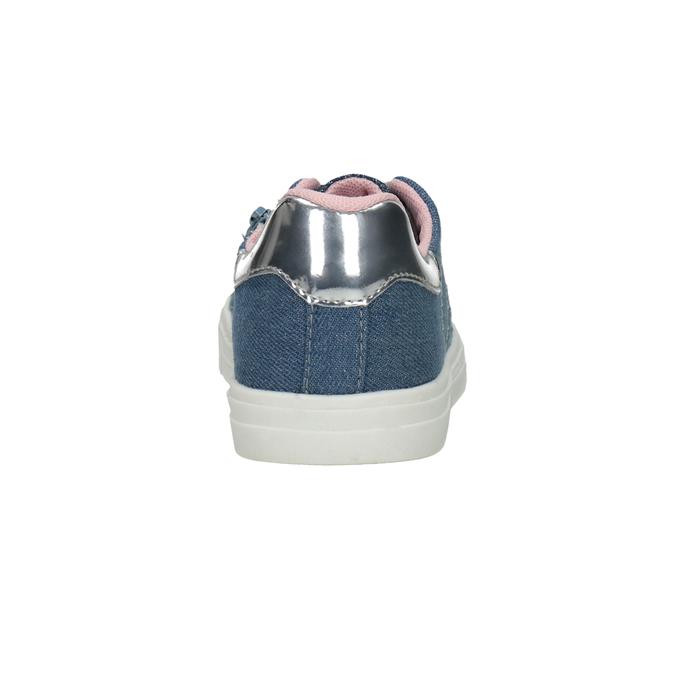 Dievčenské tenisky s prešitím mini-b, modrá, 229-9600 - 15