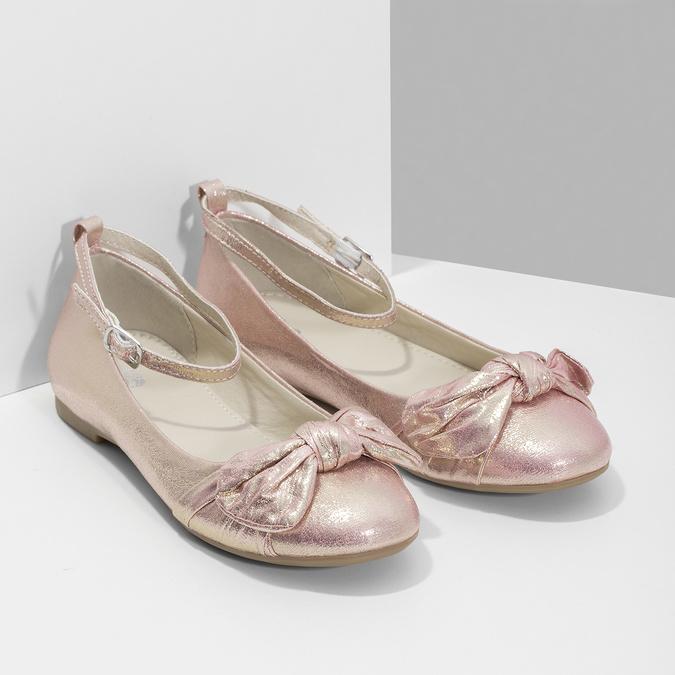 Ružové baleríny s veľkou mašľou mini-b, ružová, 329-5227 - 26