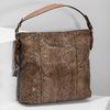 Kabelka v dizajne hadej kože gabor-bags, hnedá, 961-3008 - 17