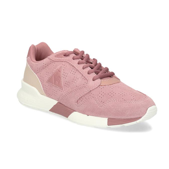 Ružové dámske tenisky z brúsenej kože le-coq-sportif, ružová, 503-5309 - 13