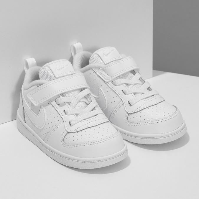 Biele detské tenisky so suchým zipsom nike, biela, 101-1154 - 26