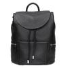 Čierny kožený batoh so zipsami bata, čierna, 964-6259 - 26