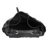 Čierny kožený batoh so zipsami bata, čierna, 964-6259 - 15