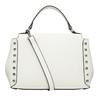 Biela kabelka s rúčkou a cvočkami bata, biela, 961-1279 - 16