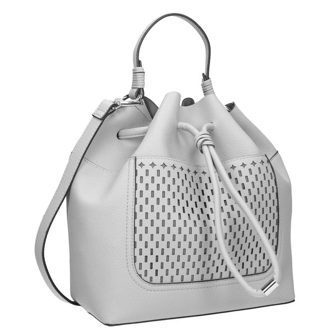 Šedá Bucket Bag kabelka bata, šedá, 961-2298 - 13