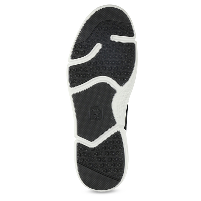 Kožené čierne pánske tenisky bata-light, šedá, 846-2712 - 18
