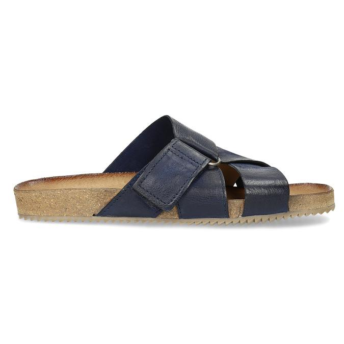 Kožené modré nazuváky bata, modrá, 866-9647 - 19