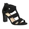 Čierne sandále na stabilnom podpätku insolia, čierna, 769-6617 - 13