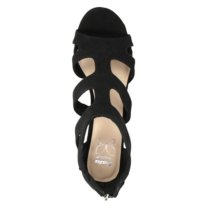 Čierne sandále na stabilnom podpätku insolia, čierna, 769-6617 - 17