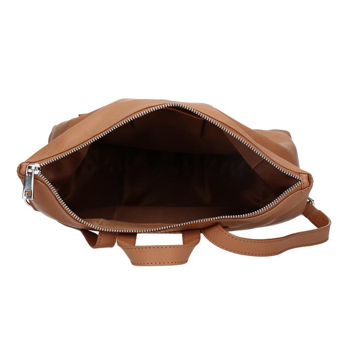 Mestský hnedý kožený batoh bata, hnedá, 964-3295 - 15