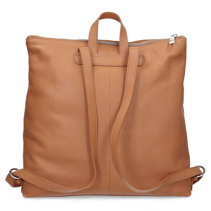 Mestský hnedý kožený batoh bata, hnedá, 964-3295 - 16